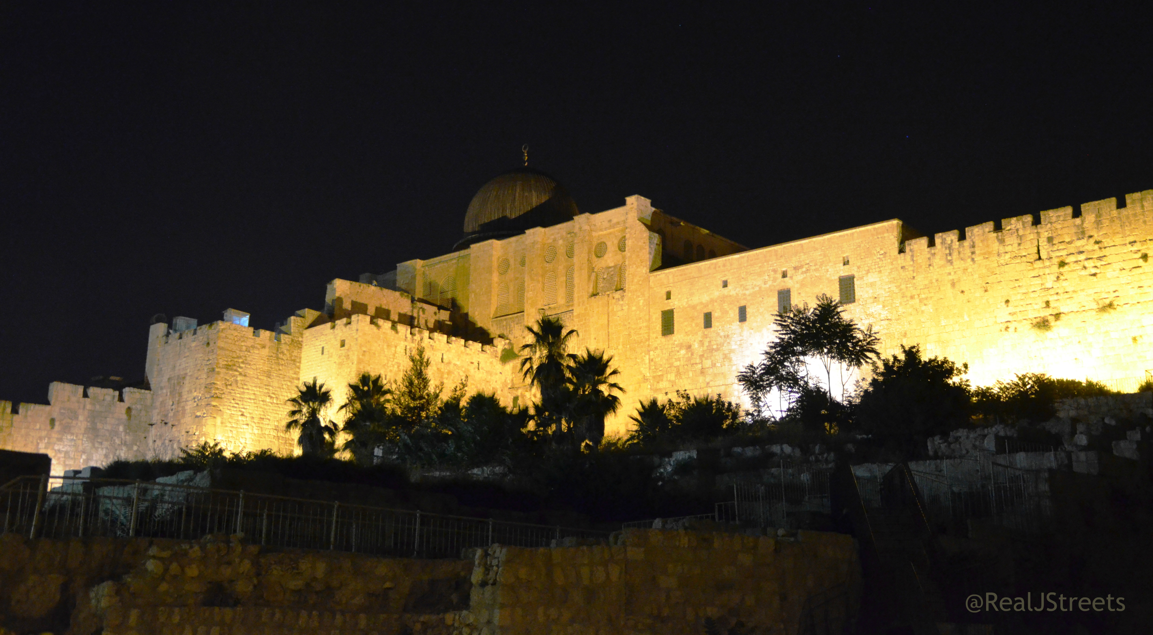 Jerusalem Israel at night Old City Walls