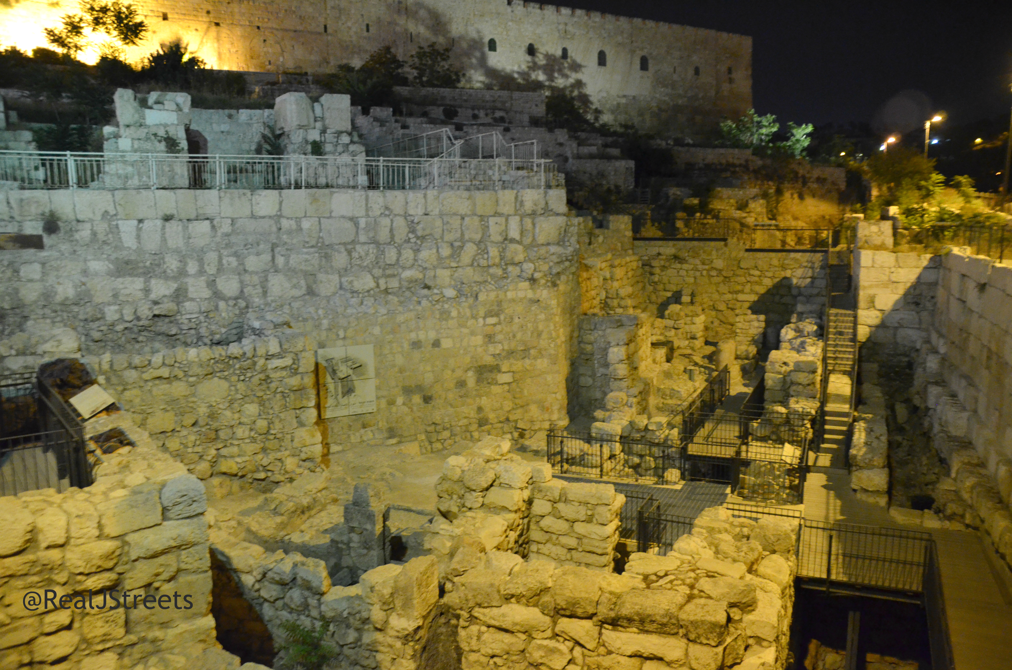 Jerusalem Israel Old City excavations.