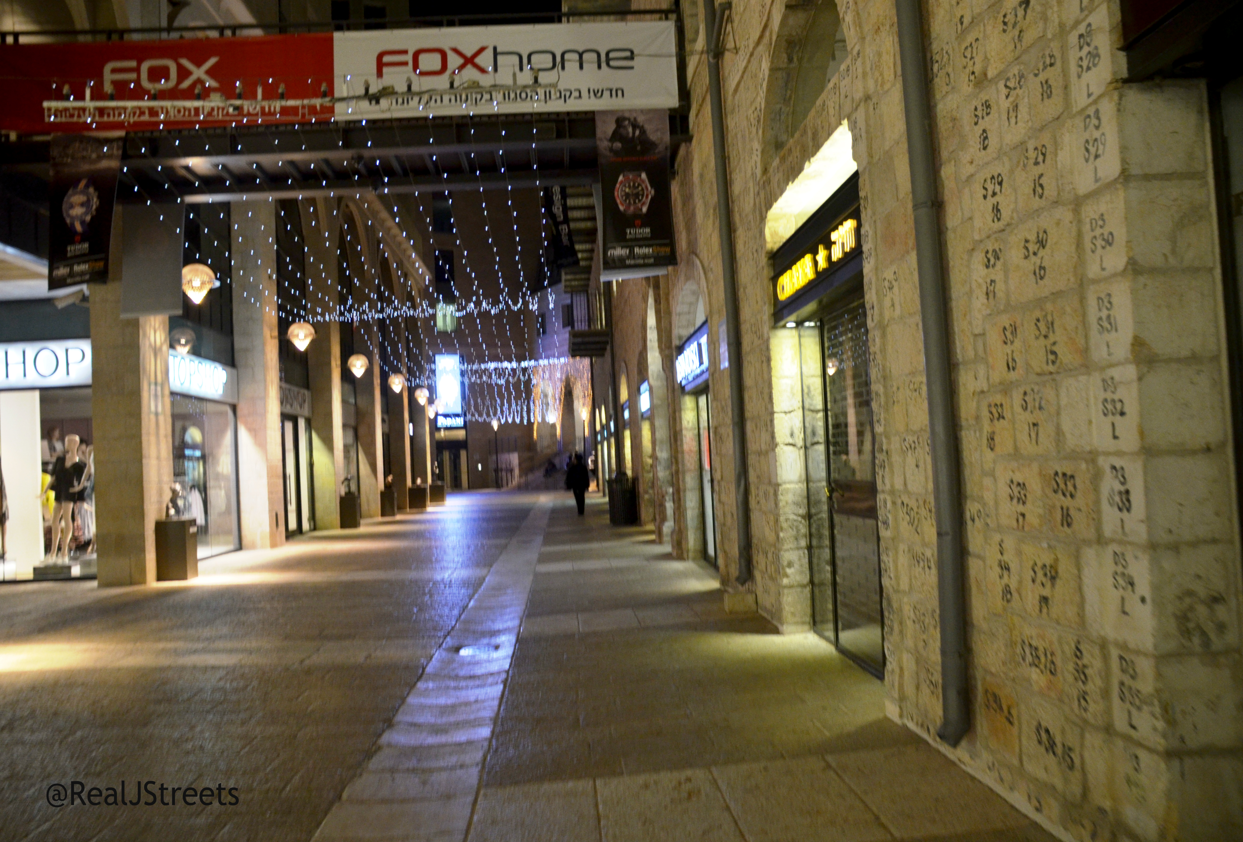 Jerusalem,Israel Mamilla Mall at night