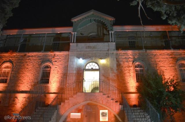 Hansen House at dark