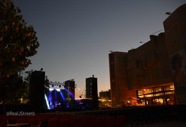 Jerusalem Theatre at sunset