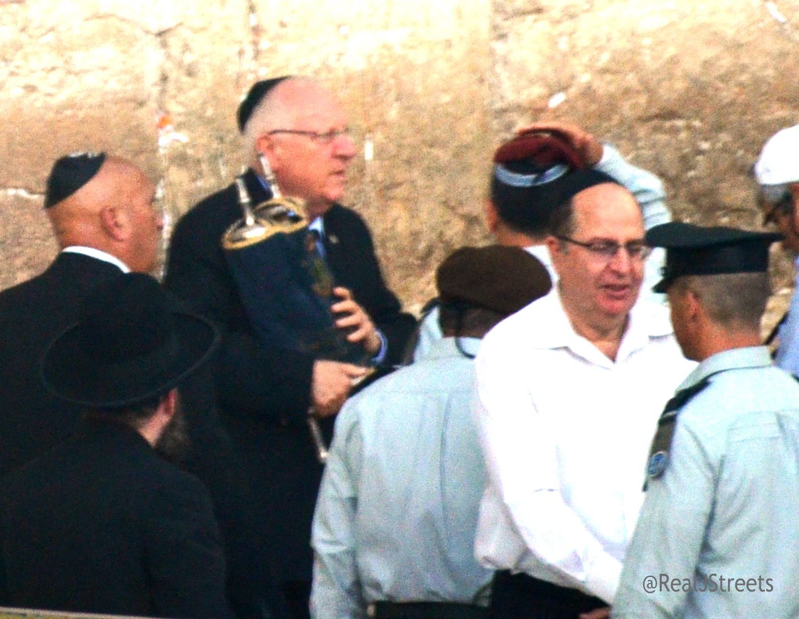 Reuven Rivlin holds torah from 1967