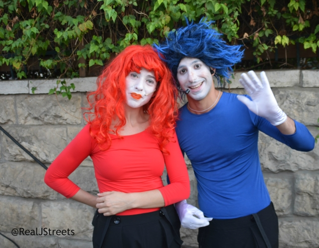 two people in costume