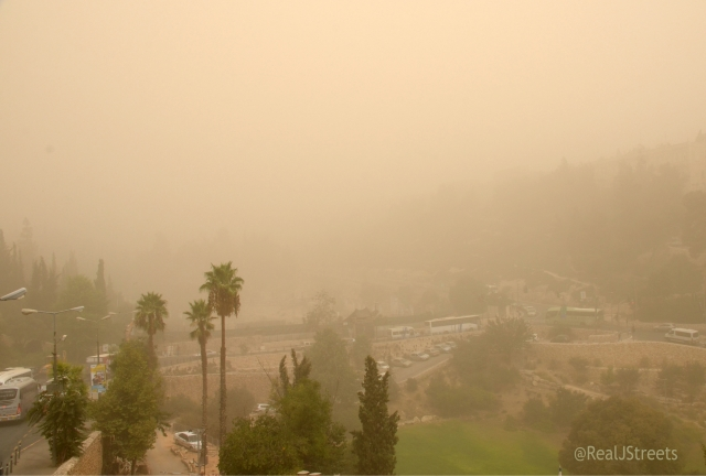 Ols City view during sandstorm
