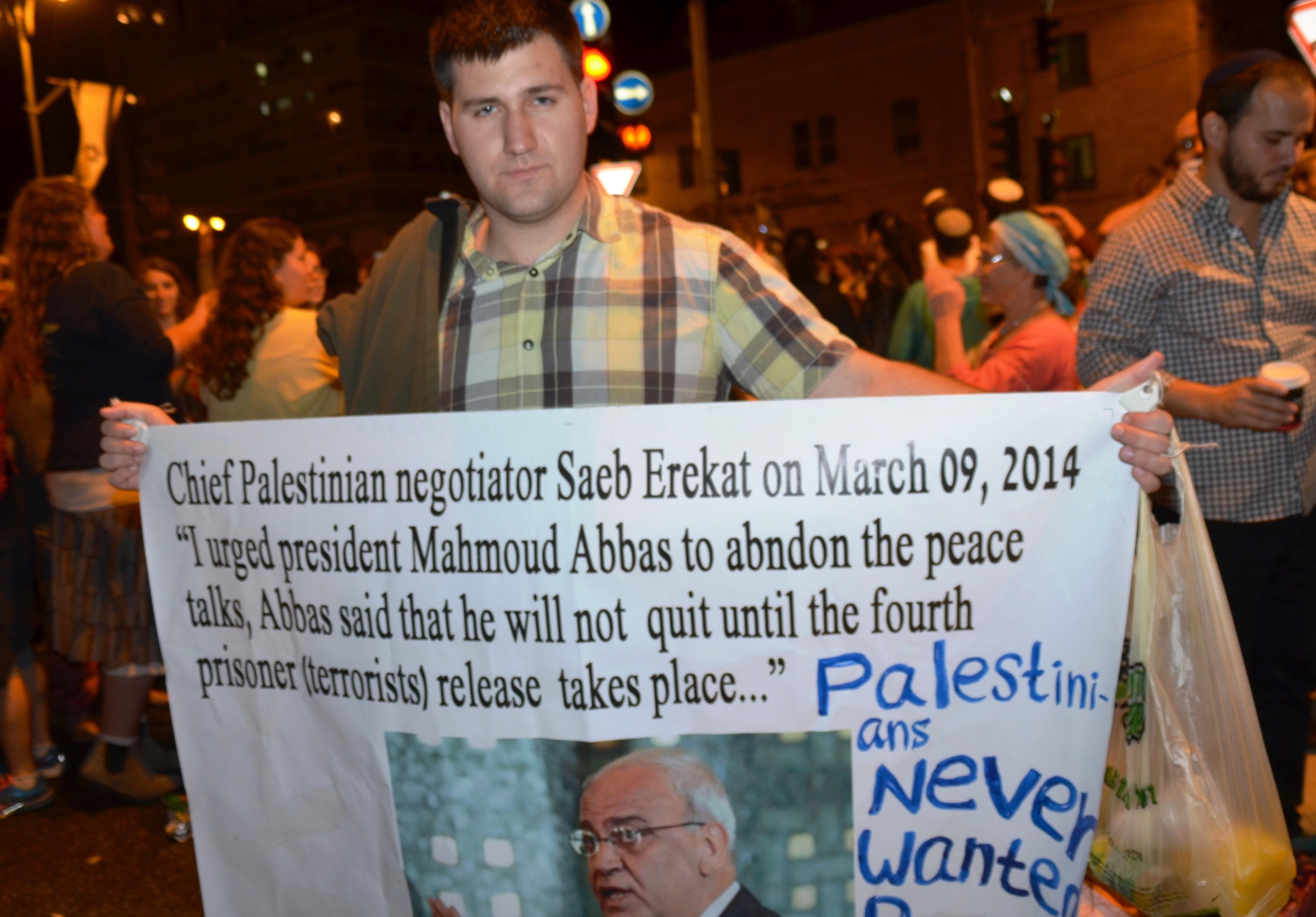 protest Palestinian violence