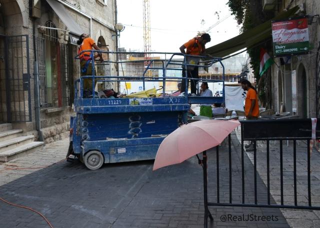 umbrellas down