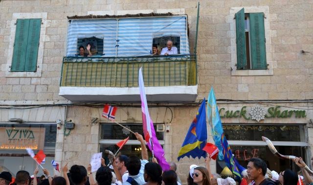 spectators at Jerusalem march
