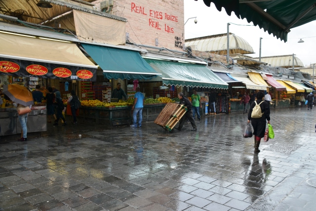 rain in Machane Yehuda Market