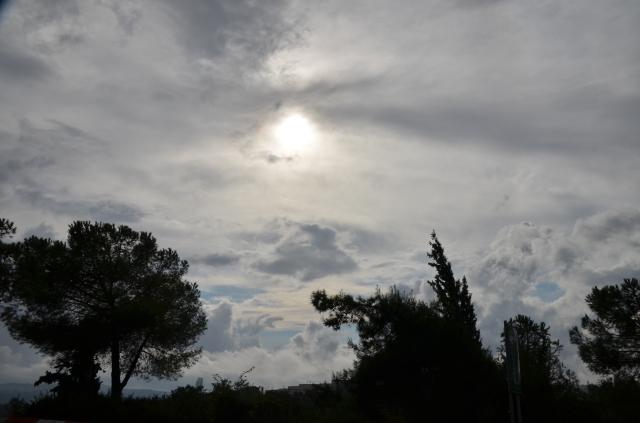 clouds over Jerusalem