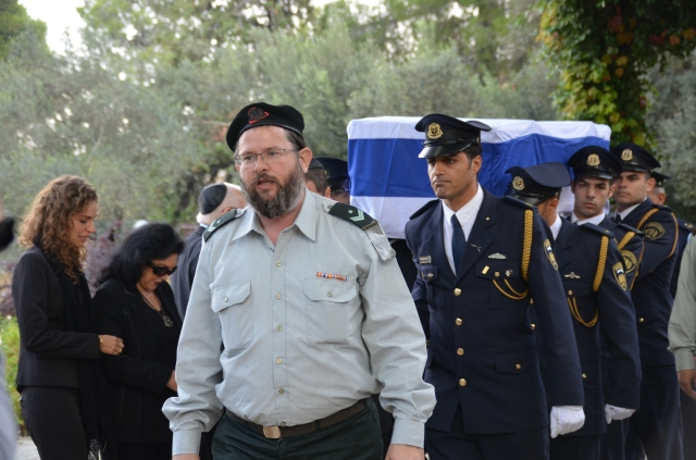 Military escort at funeral
