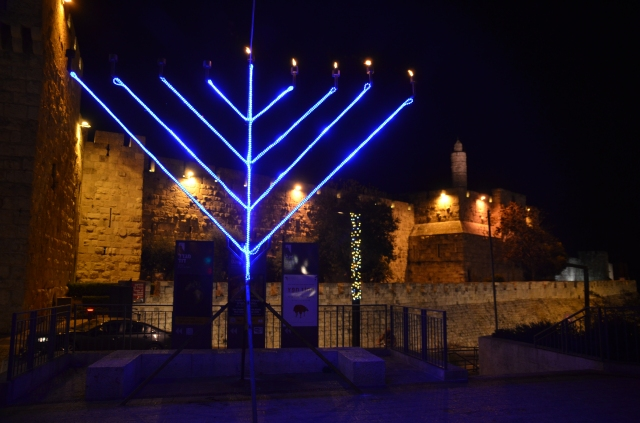 large menorah near Jaffa Gate