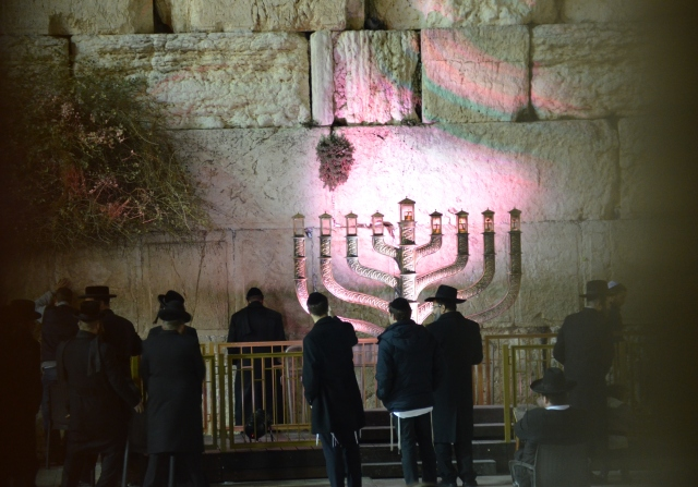 chanukia at Kotel
