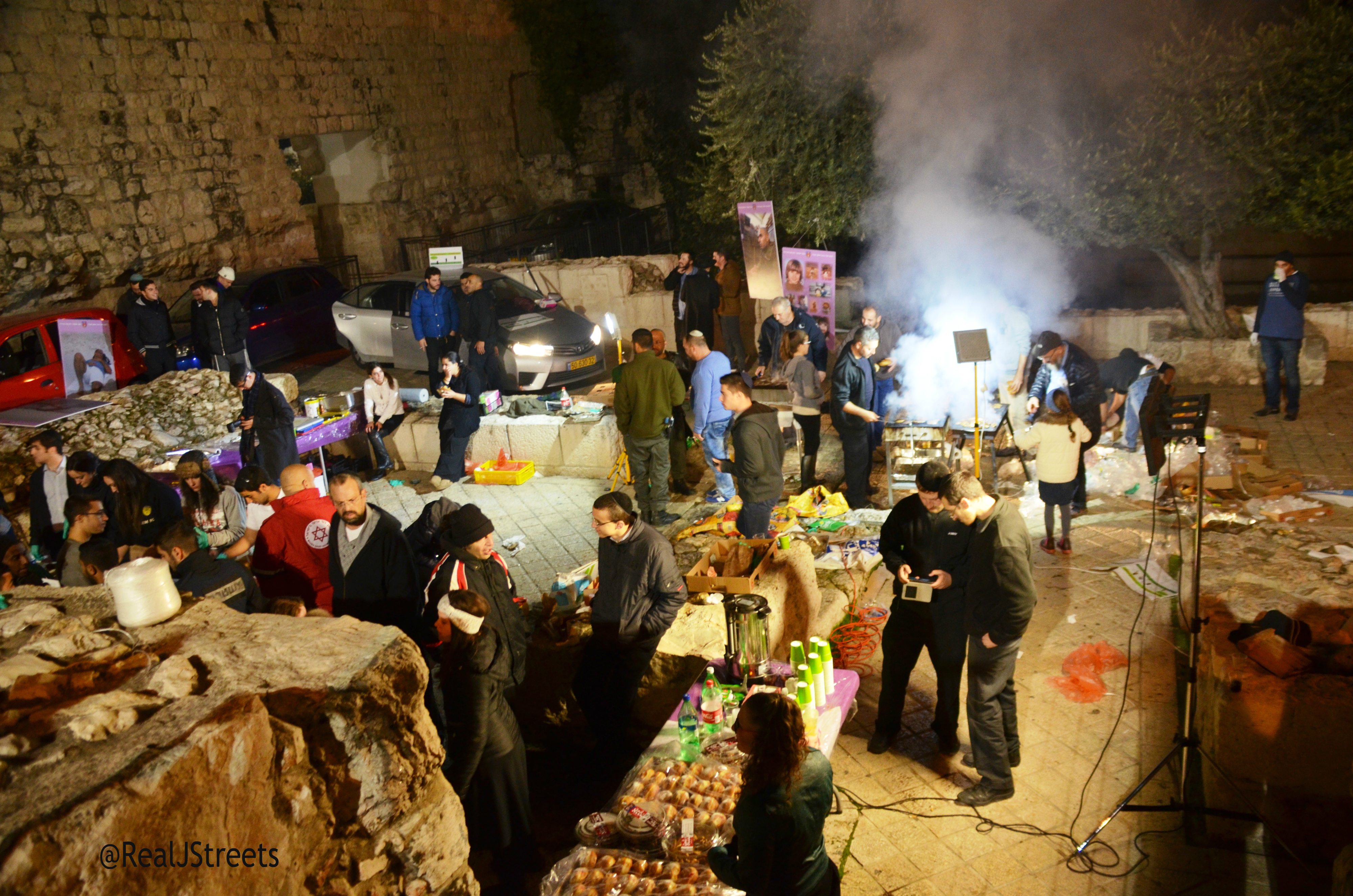 BBQ in Old City on Hanukka
