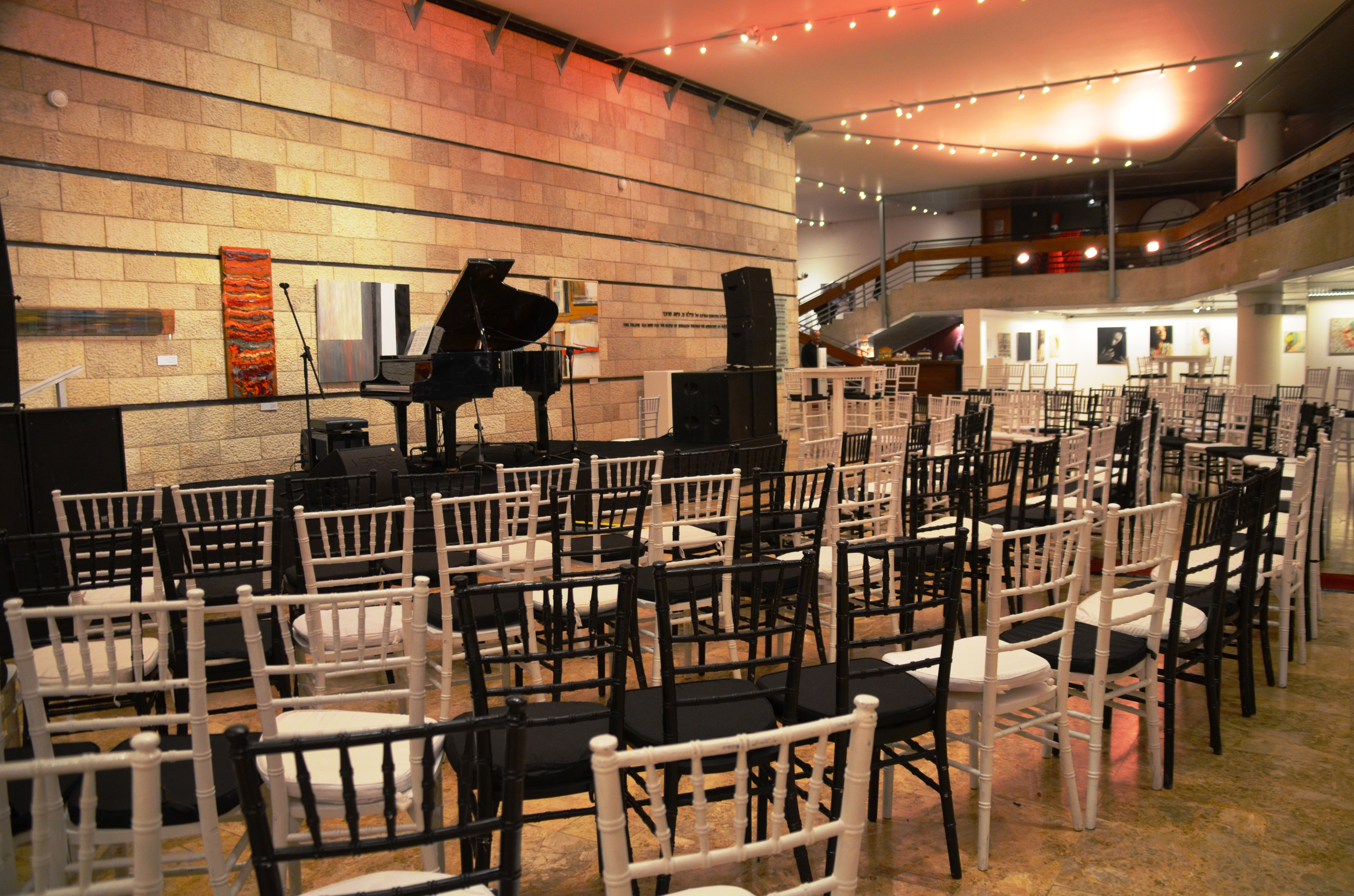 lobby set with chairs for piano fetival