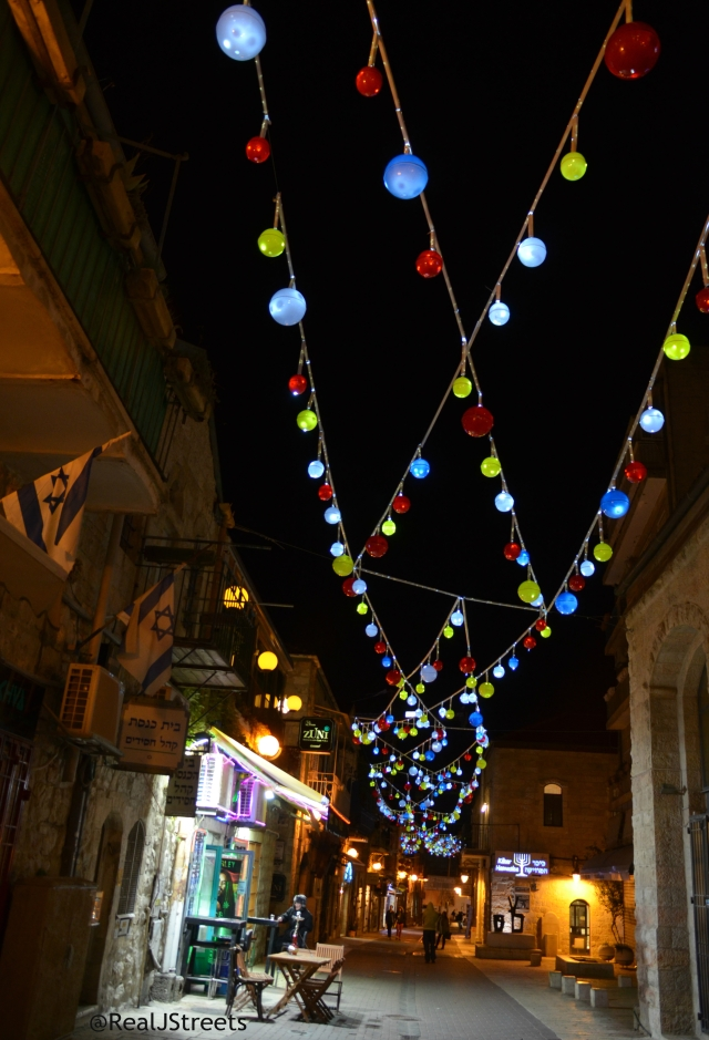 decoration over Jerusalem streets