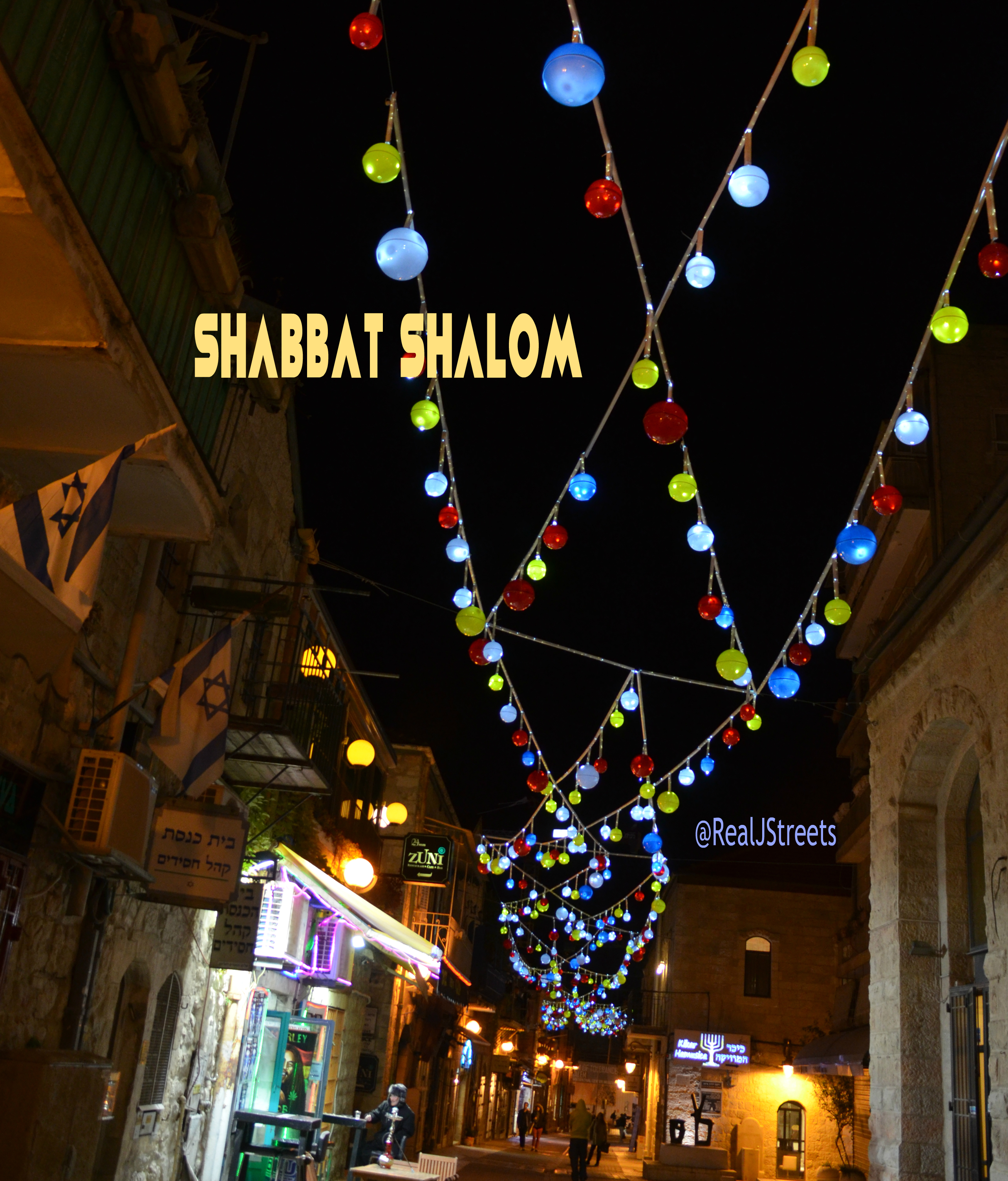 Shabbos poster Jerusalem lights