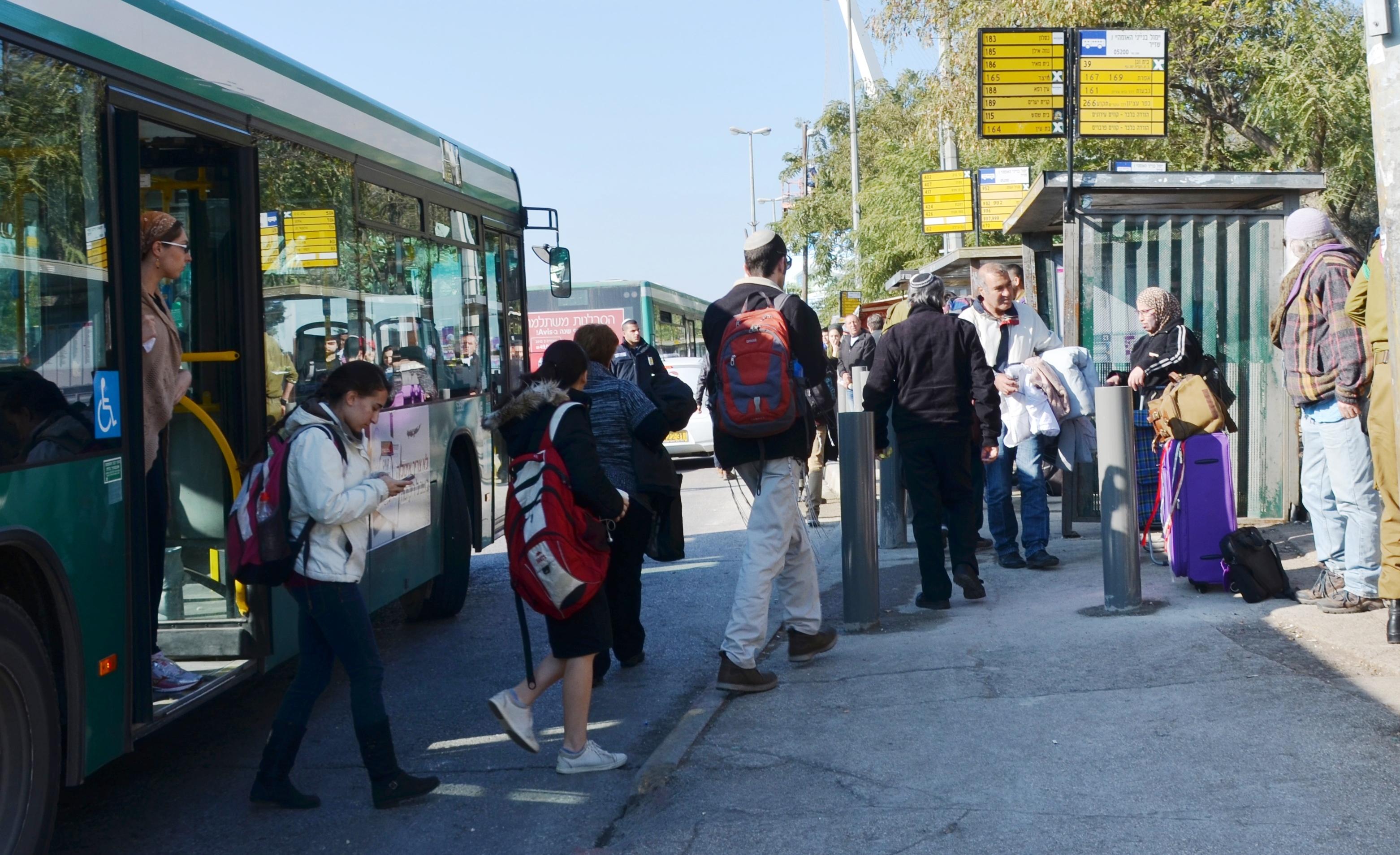 Bus stop near main bus station