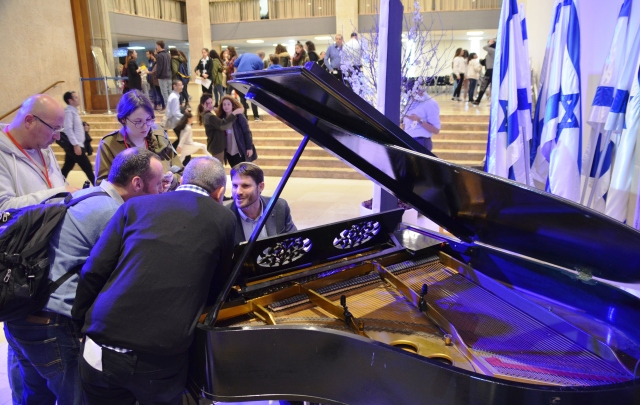 piano at Knesset for Tu B'Shavat