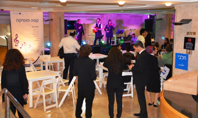Music cafe in Knesset for birthday