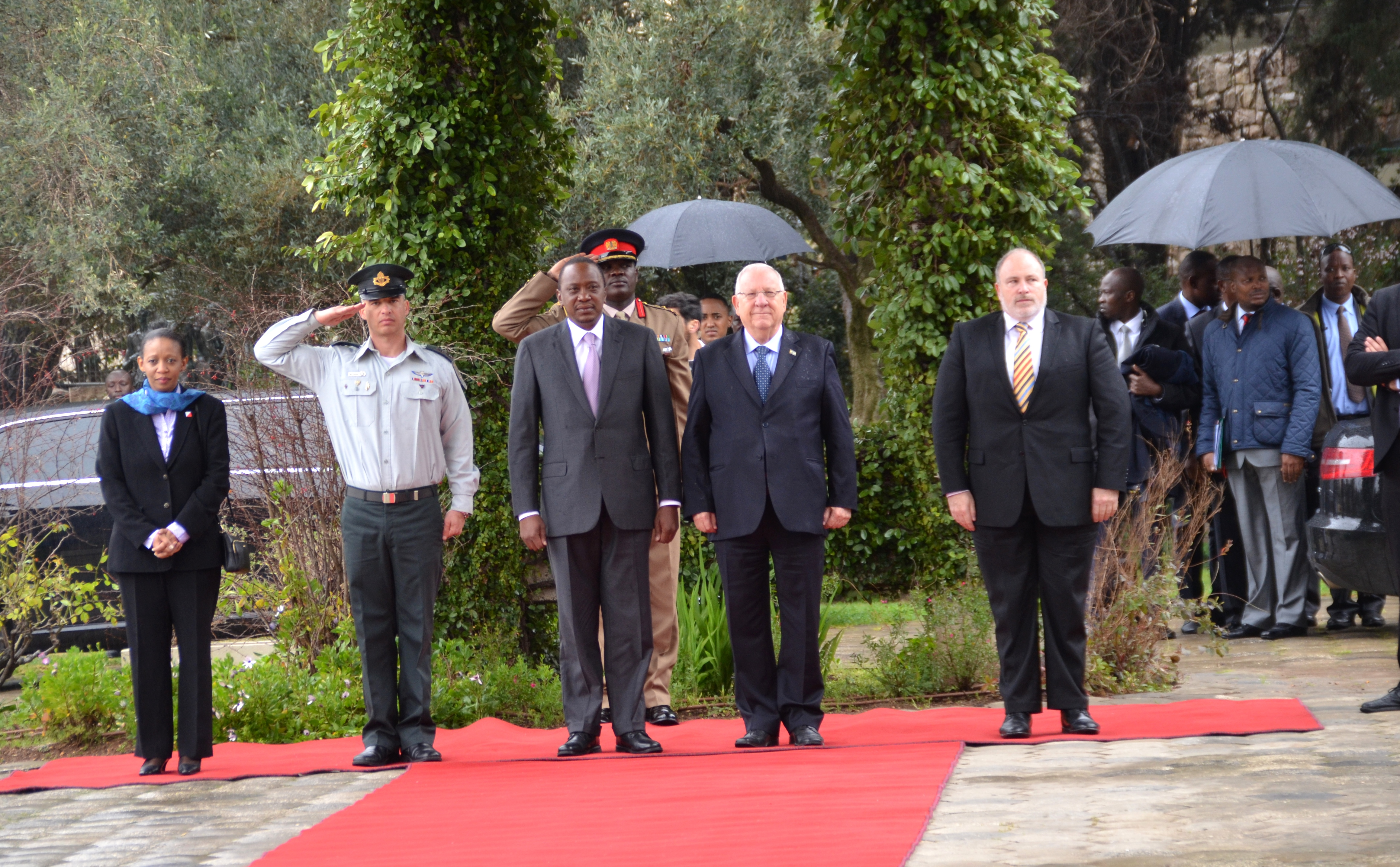 Kenya President in Jerusalem at Beit Hanasi