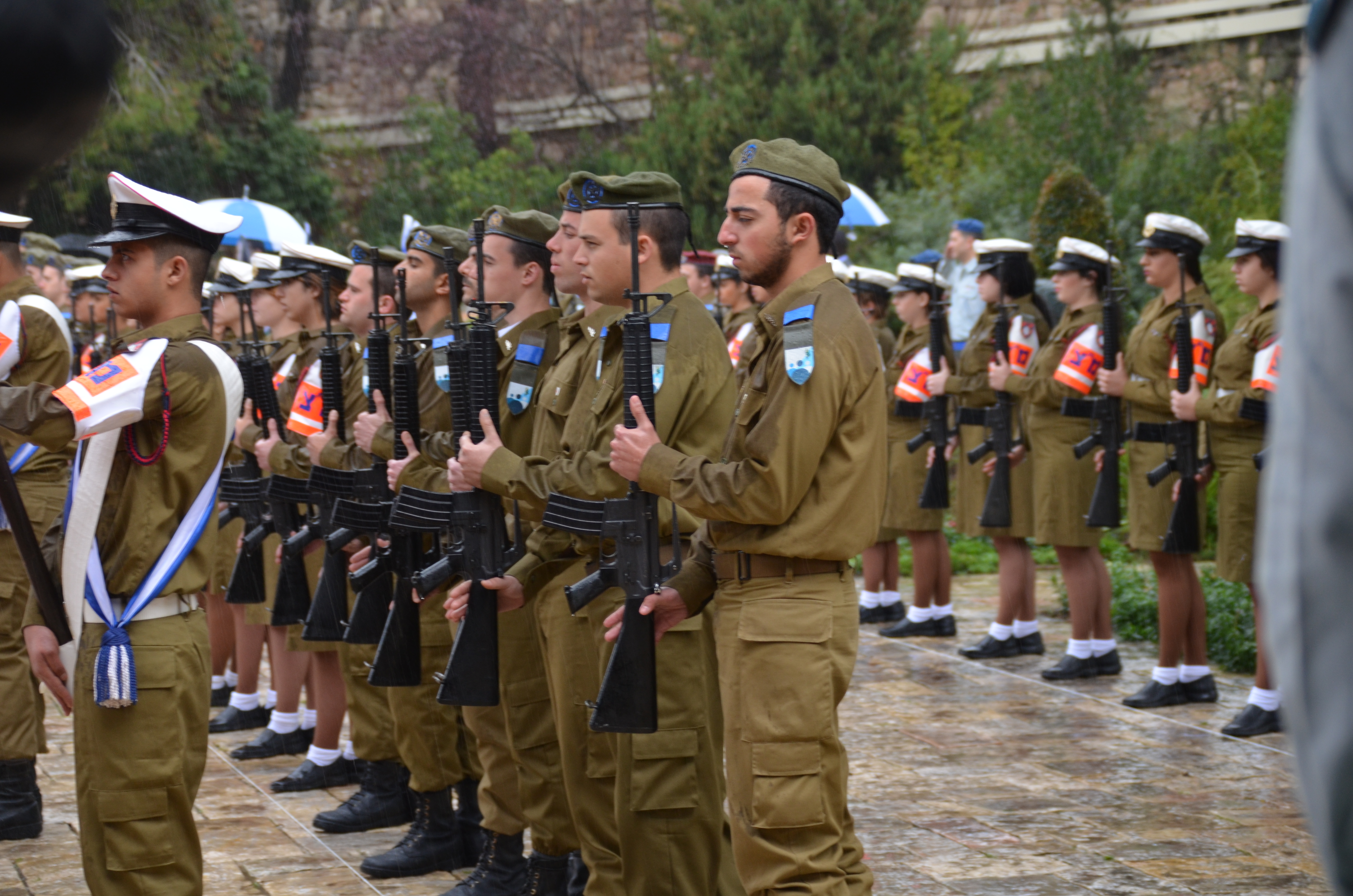 Honor guard at Beit Hanasi