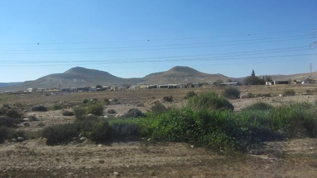 Bedouin along highway