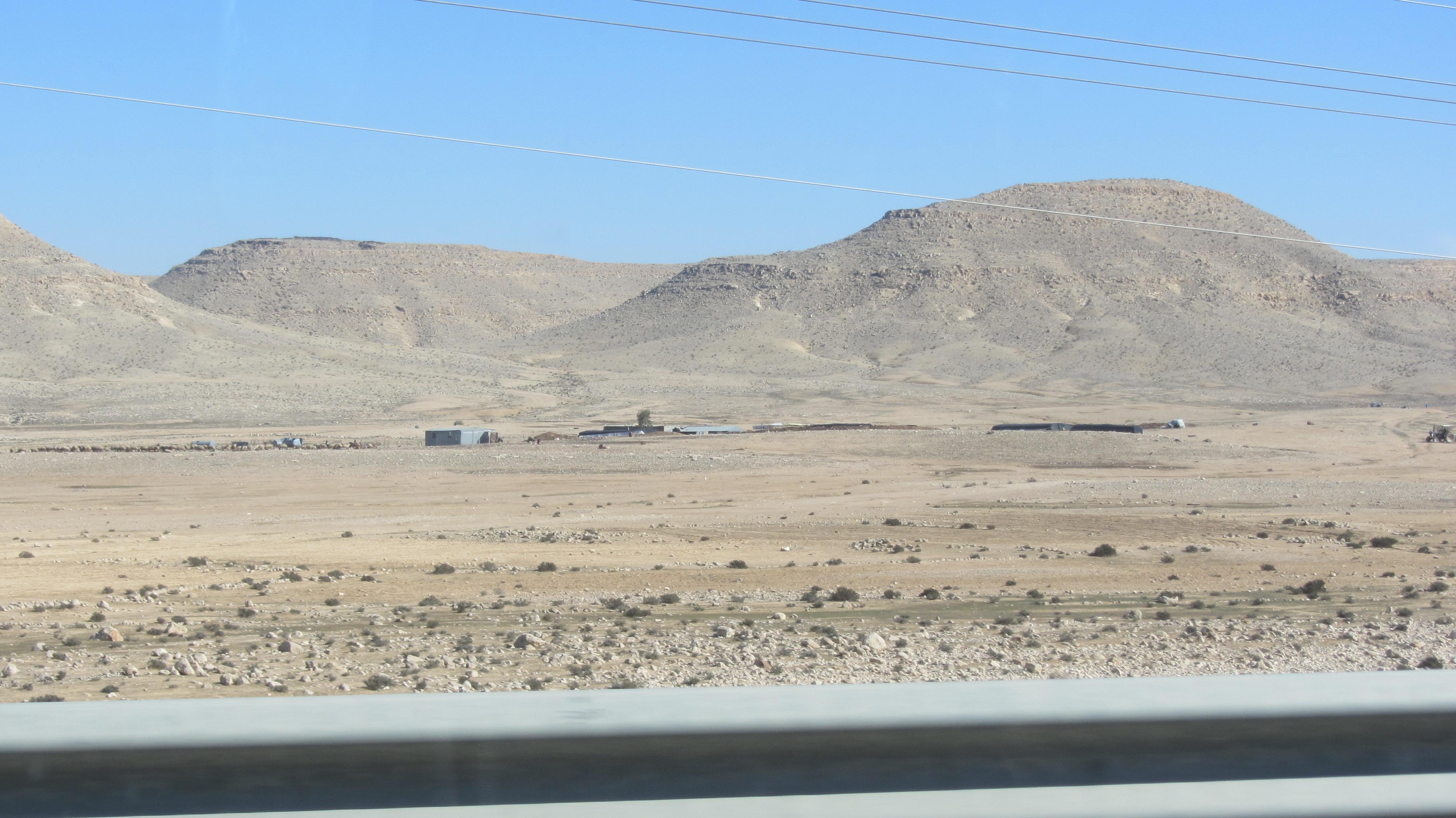 Bedouin along road
