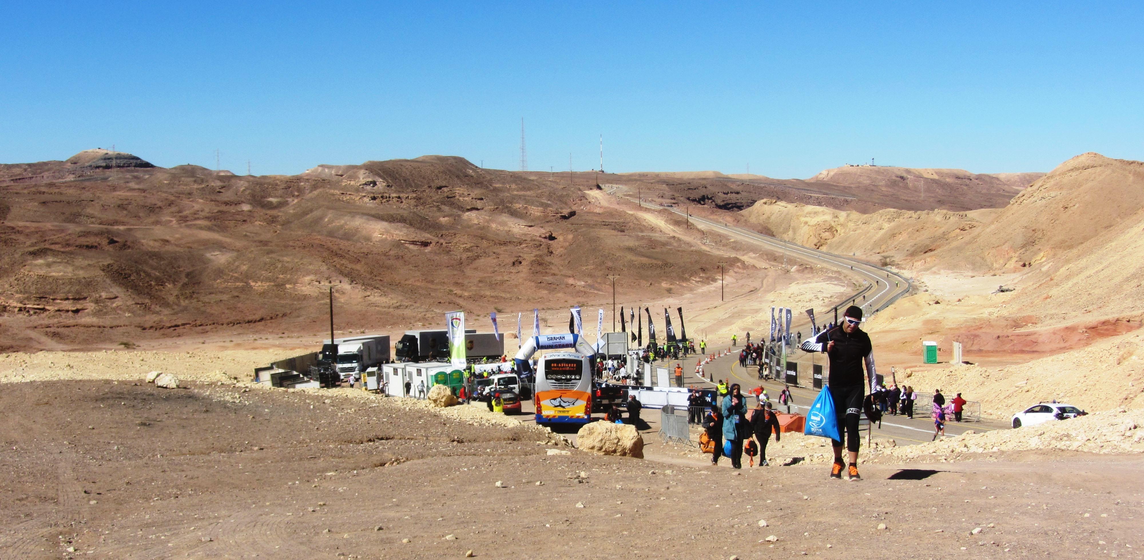 Bike start Israman in Eilat hills