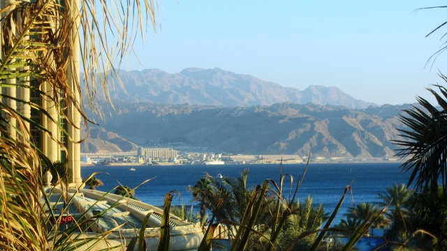 Jordan view from hotel in Eilat