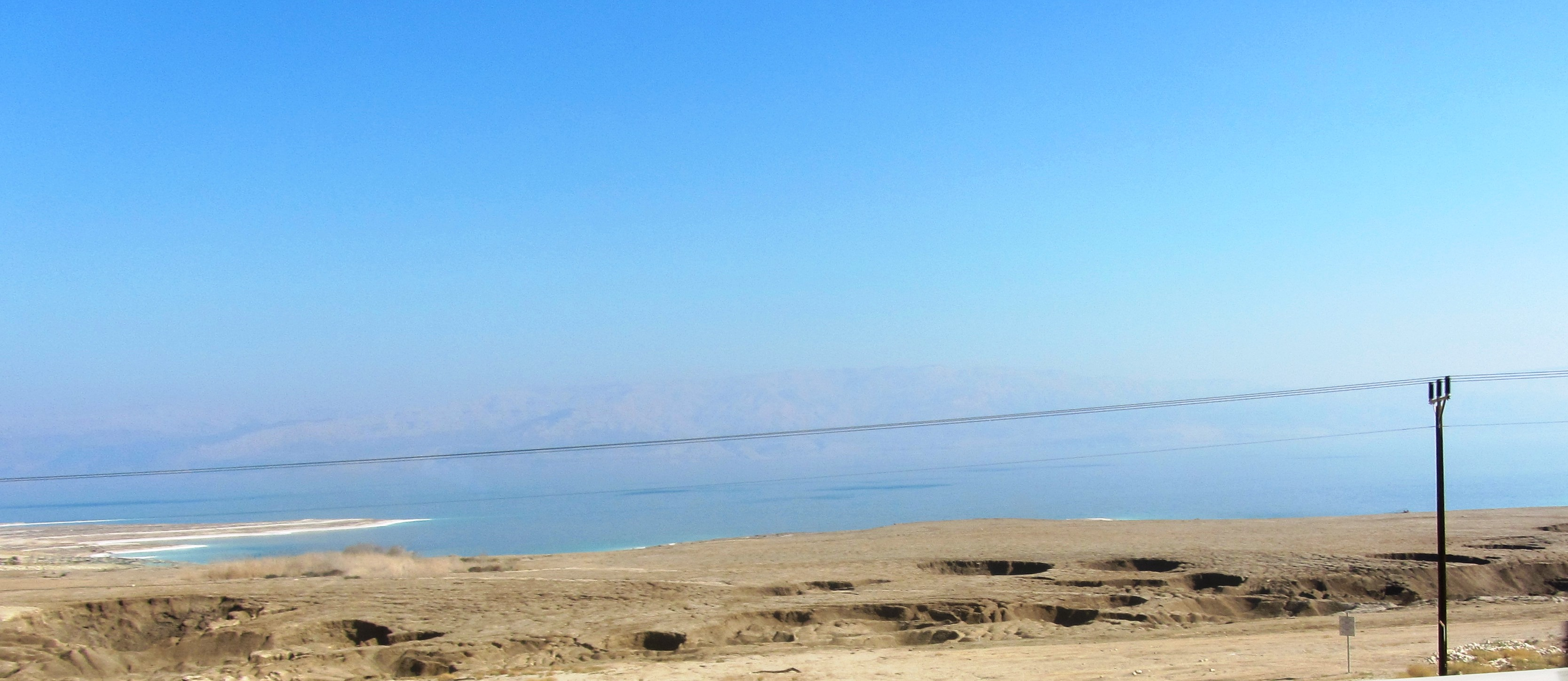 Sink holes near Dead Sea
