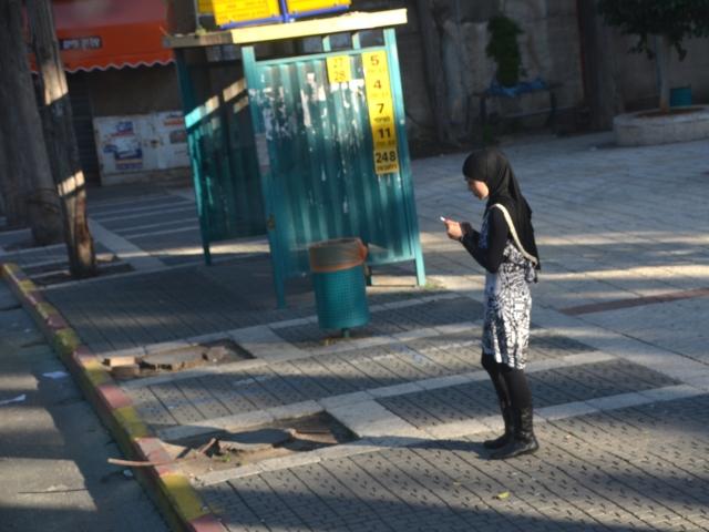 Muslim girl in Ramle