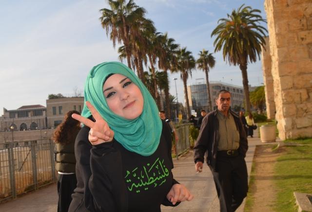 Muslim girl near old city