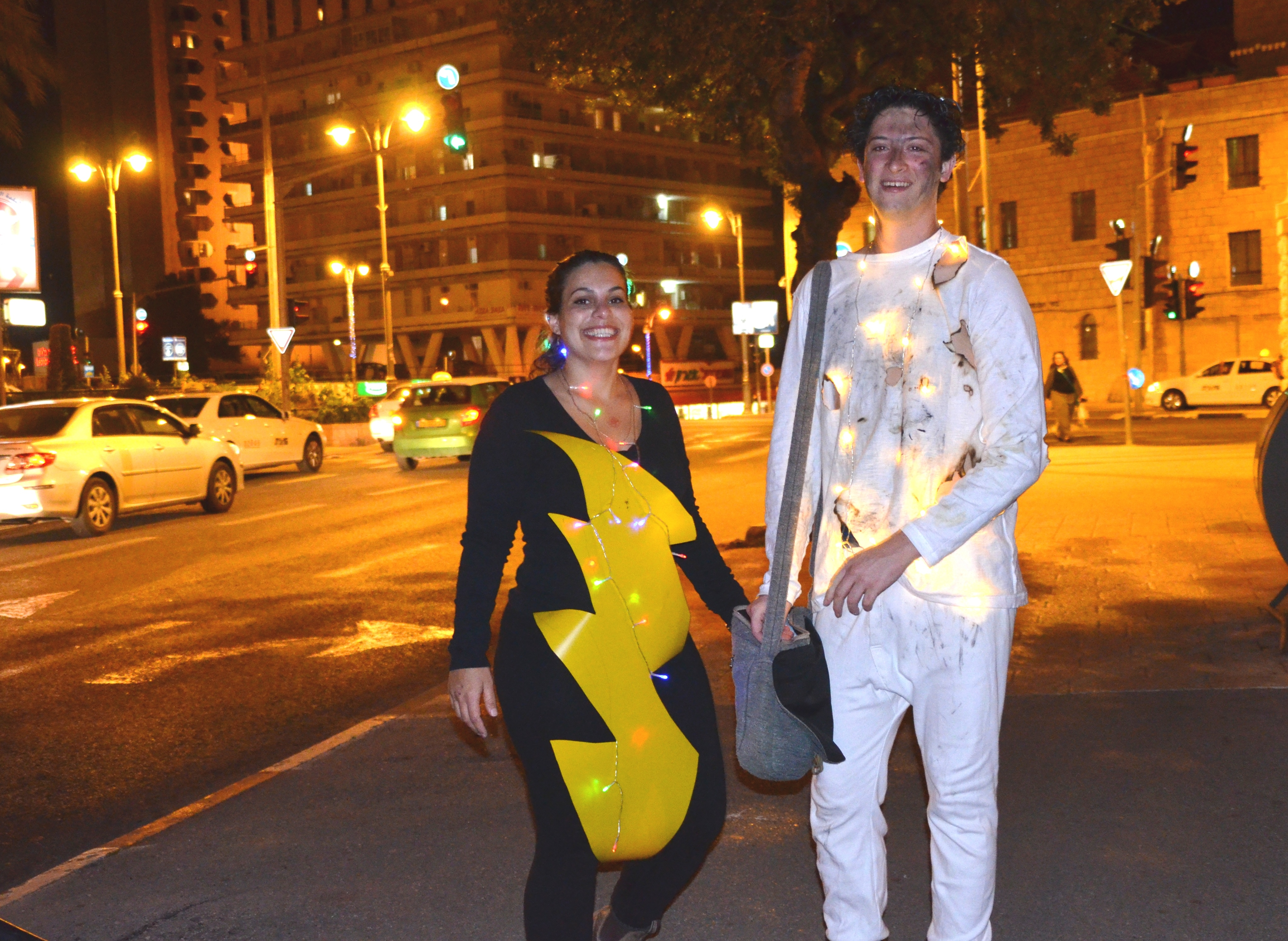 Purim costume with lights