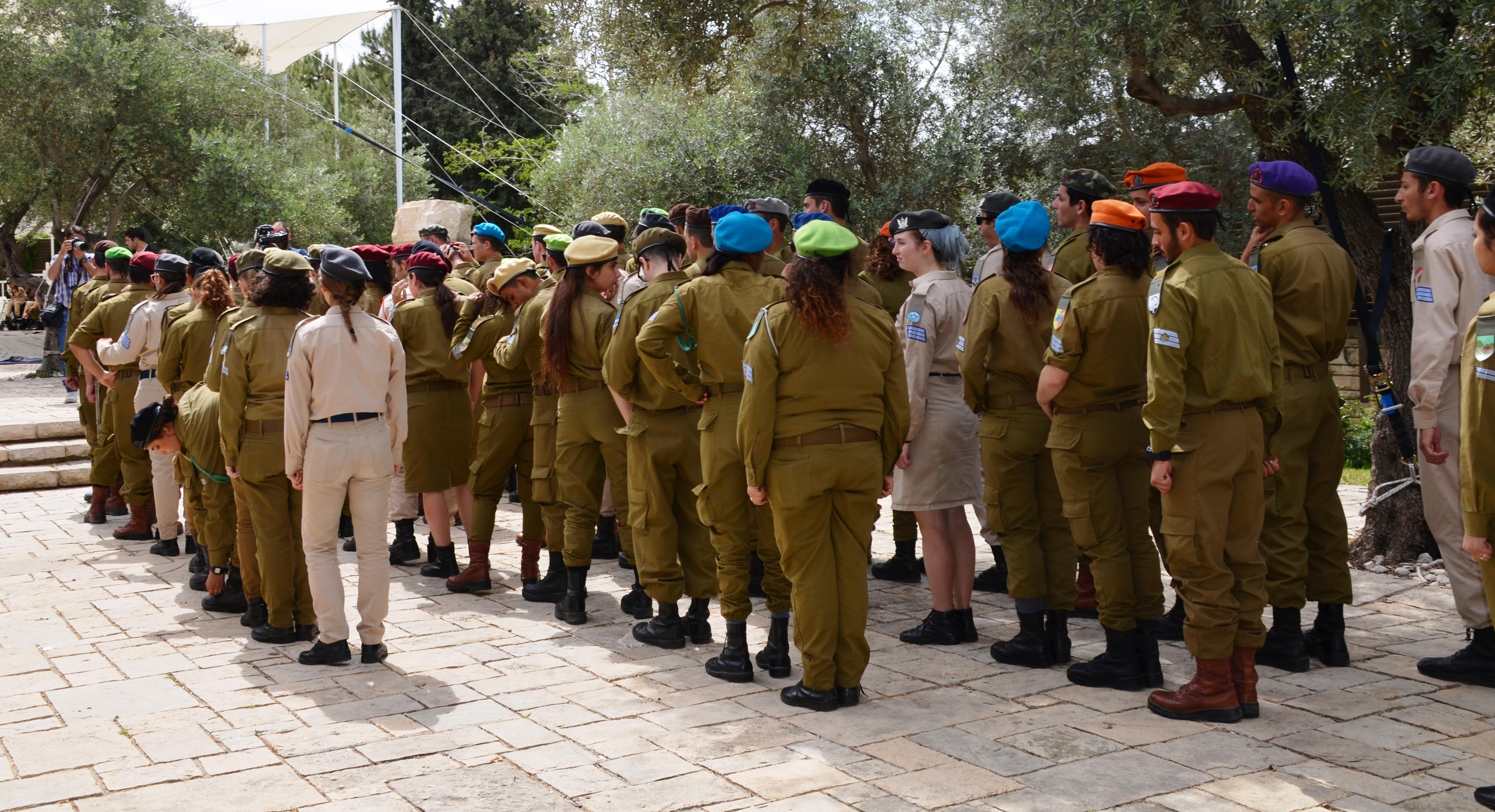 soliders being honored Beit Hanasi Jerusalem Israel