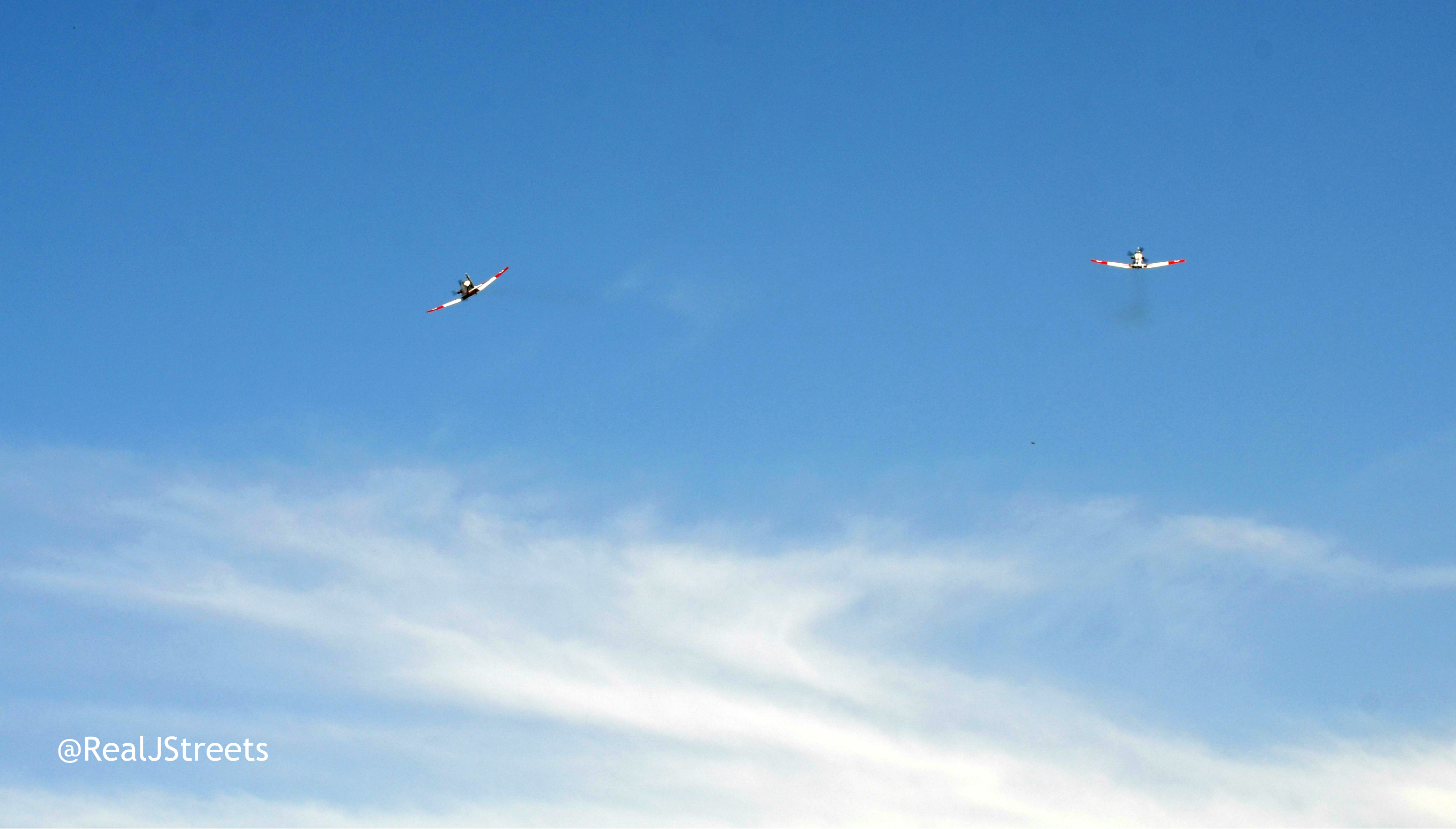 Two planes flying over Jerusalem for INdependence Day show