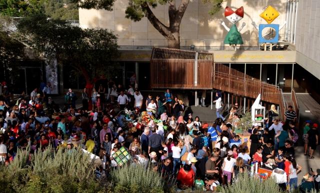 crowd at Israel Museum for Jerusalem Education week