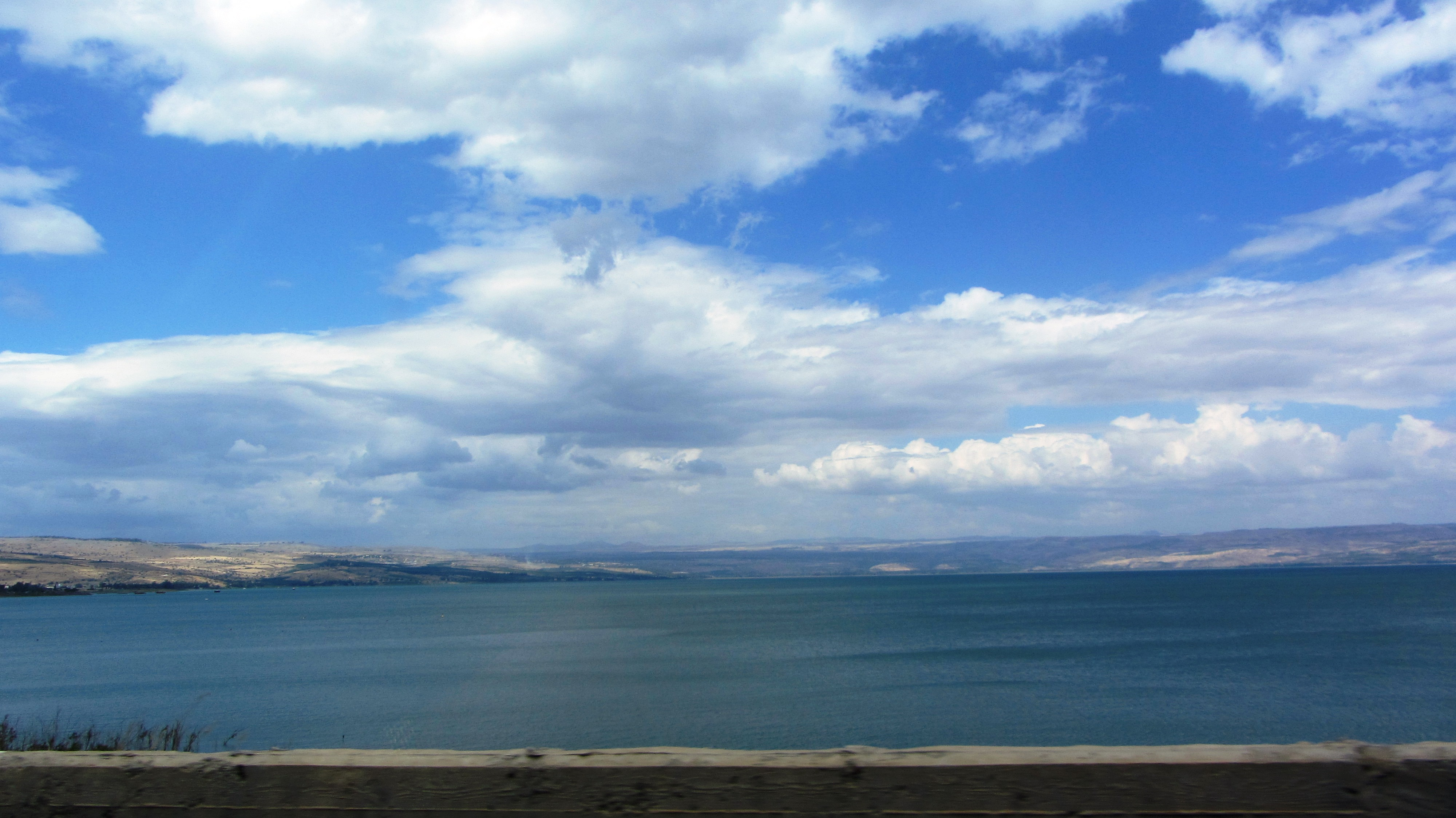 blue sky and clouds over Kineret