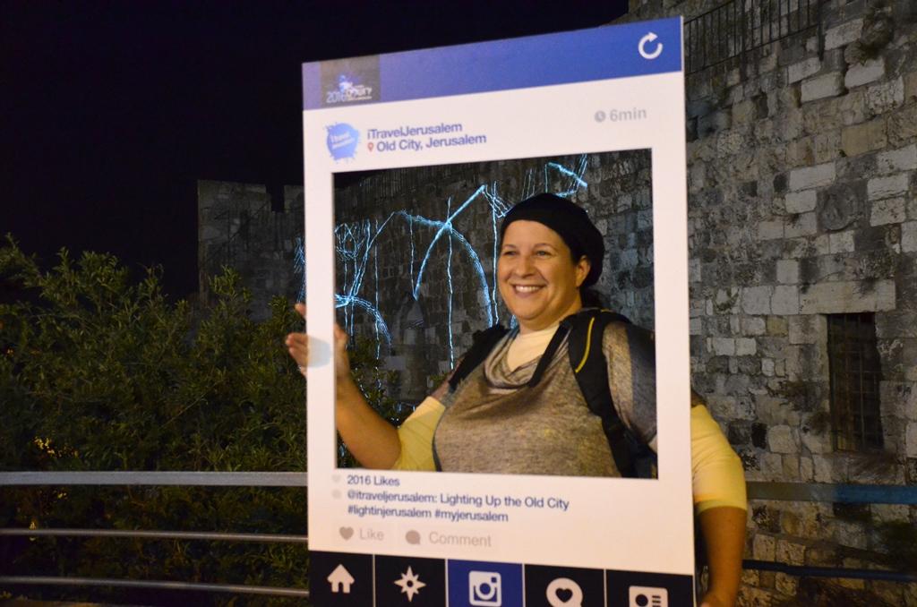 Jerusalem light festival instagram pic with Miriam Lottner