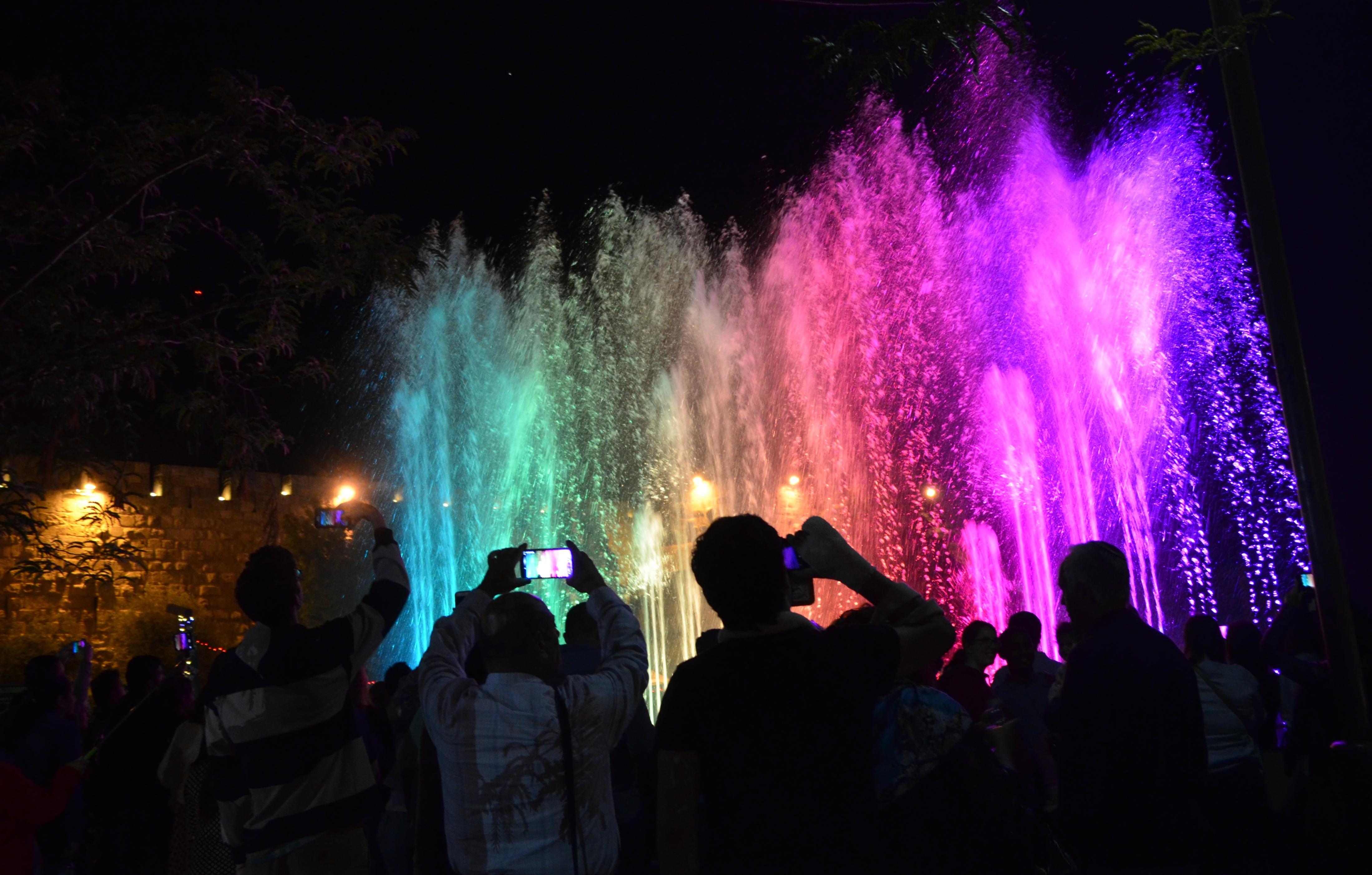 Jerusalem light festival Jaffa Square