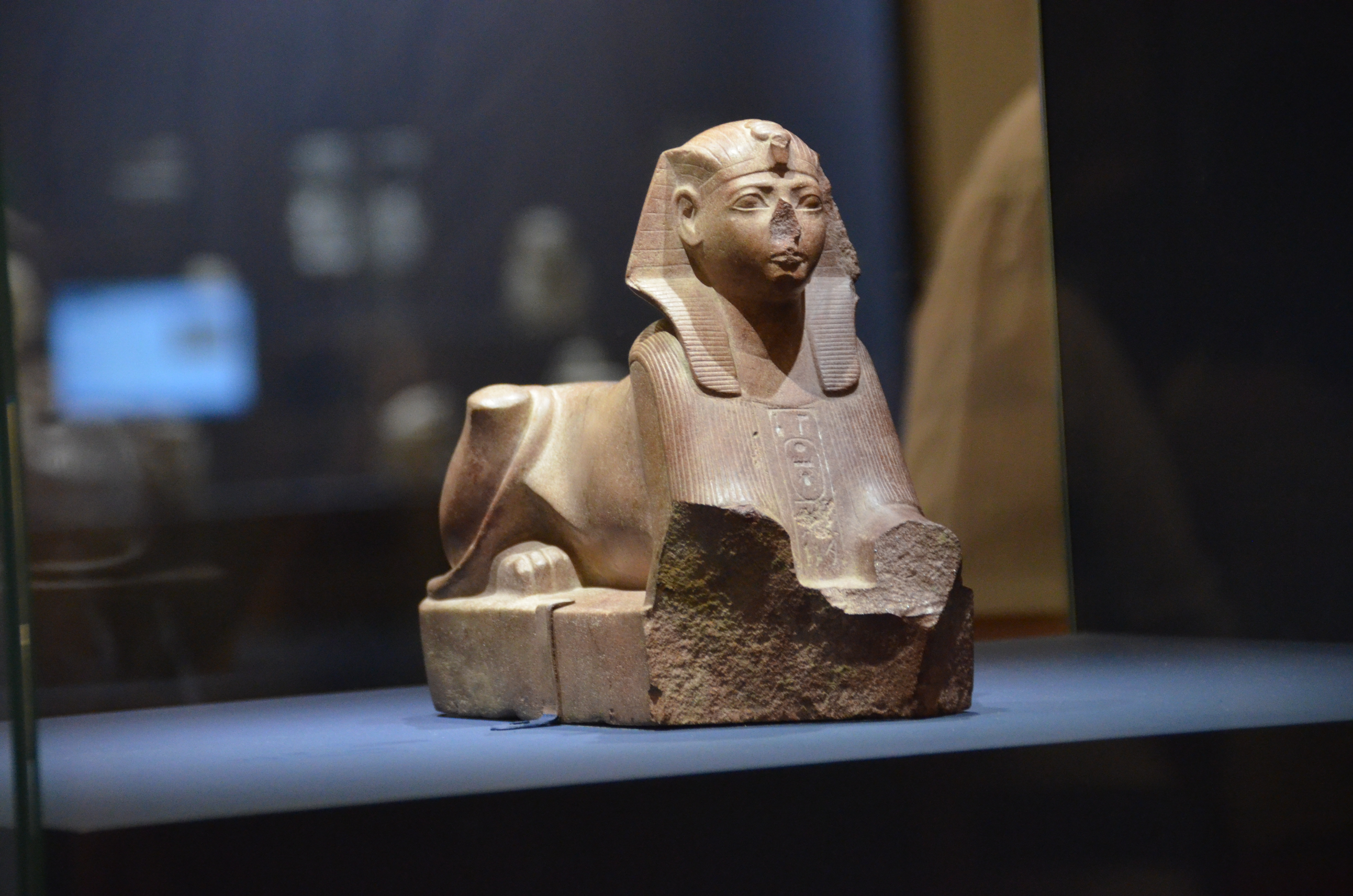 sphinx in Israel Museum exhibit on Pharaoh and Canaan