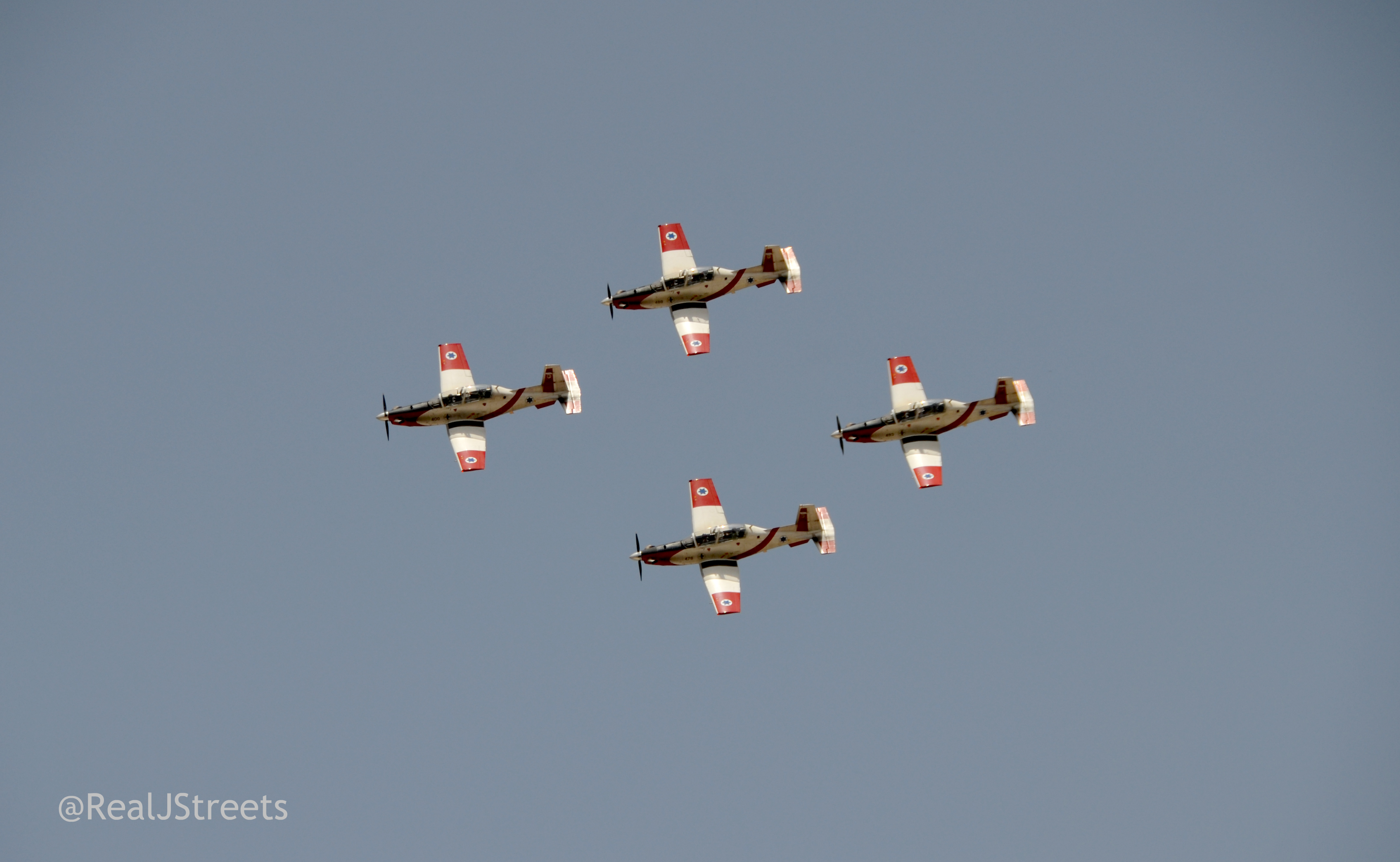 planes in air show Jerusalem Israel for Independence Day