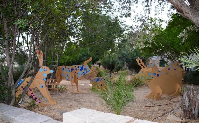 Hansen House animals from Design Week in garden