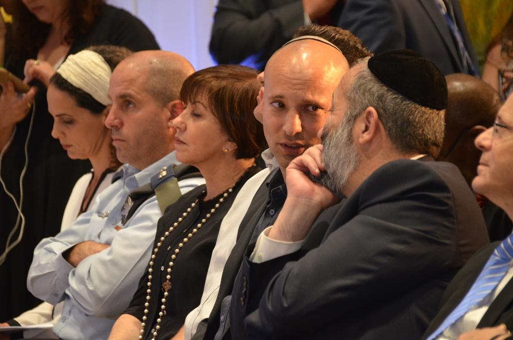 Naftali Bennett and ARyeh Deri t Beit Hanasi