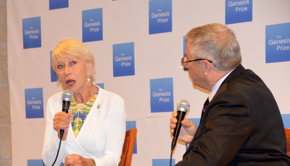 Dame Helen Mirren at JPC before Genesis Prize