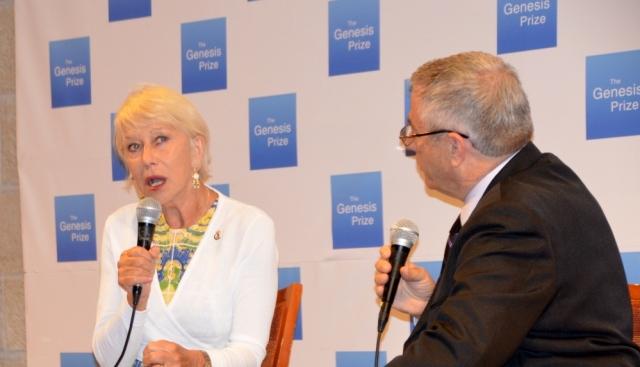 Dame Helen Mirren at JPC before Genesis Prize