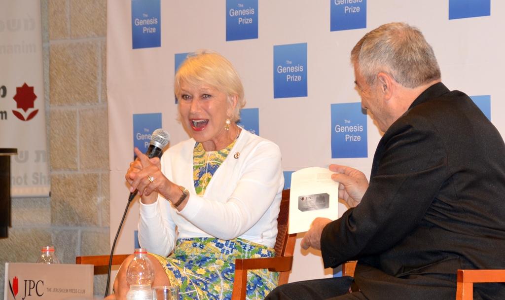 Helen Mirren Jerusalem Israel for Genesis Prize