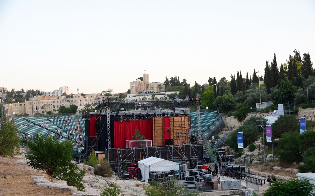 Jerusalem Opera stage in Sultan's Pool