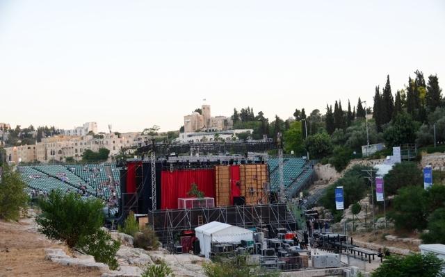 Jerusalem Opera stage in Sultan's Pool