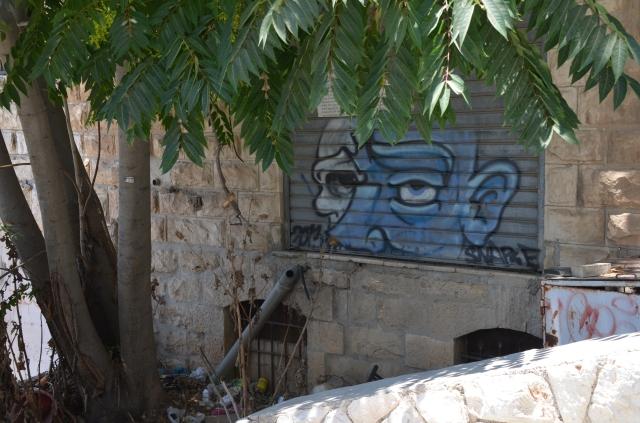 Jerusalem Israel street graffiti