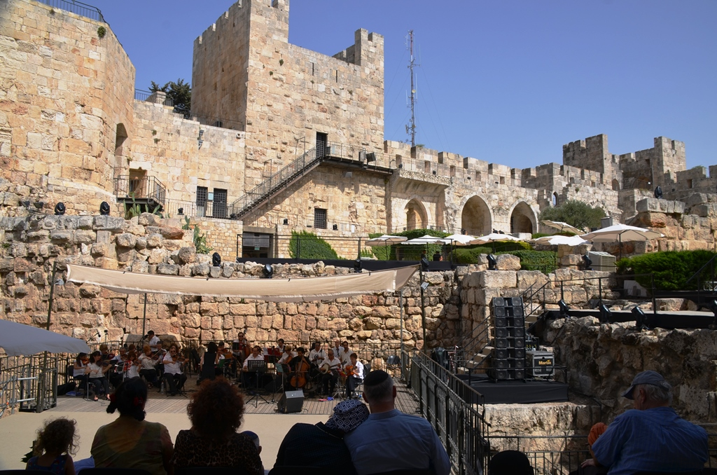 Tower of David Jerusalem Day reception mayor